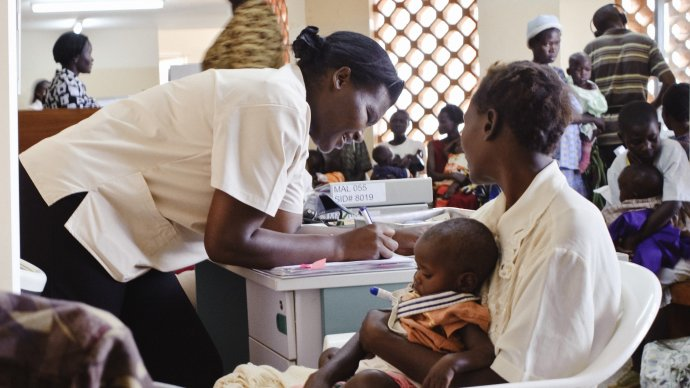 baby clinic malaria mother doctor