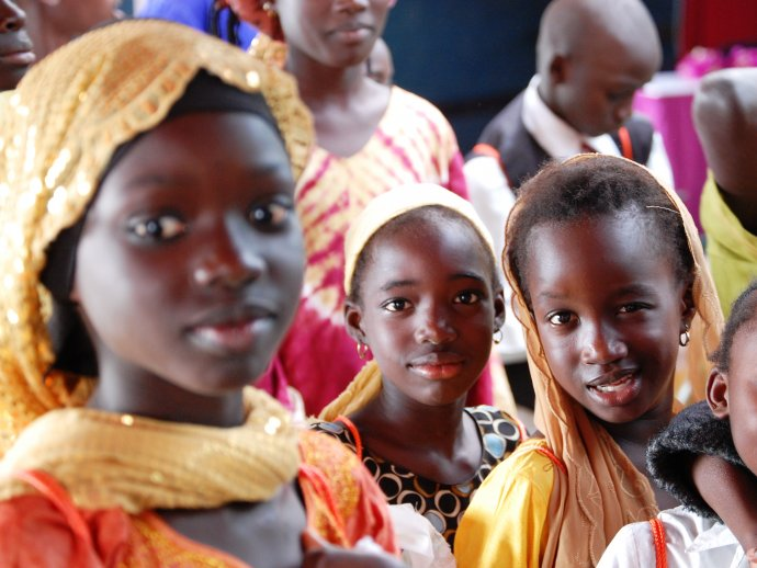 Photo: young girls in Senegal