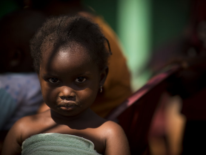 Little girl in Guinea