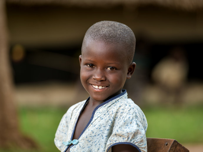 Photo: smiling boy East Africa