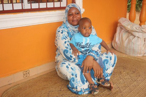 Photo: Mother and child at health facility