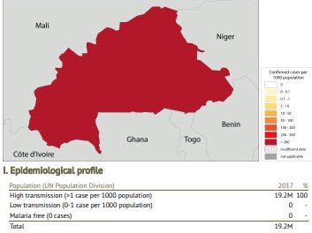 Data taken from the World Malaria Report 2018